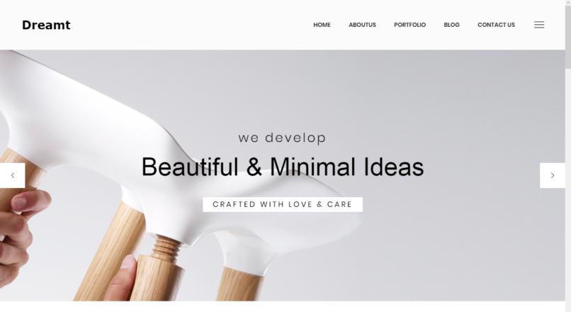 Dreamt — Minimal Portfolio HTML Template