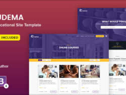 UDEMA — Modern Educational Site Template
