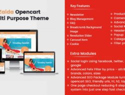 Zaida Premium Opencart Theme compatible for oc 2.2,2.3,3.0