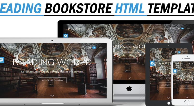 Reading — Bookstore Responsive HTML Template