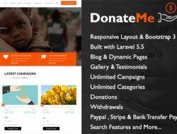 DonateMe — Crowdfunding Laravel Script