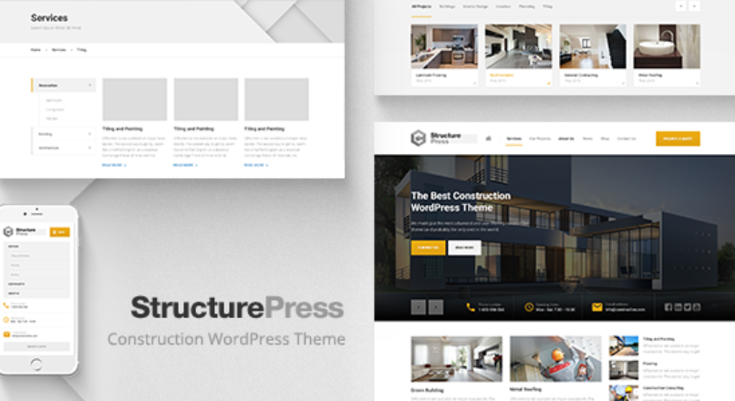 StructurePress — Construction and Architecture WordPress Theme v1.10.0 Nulled
