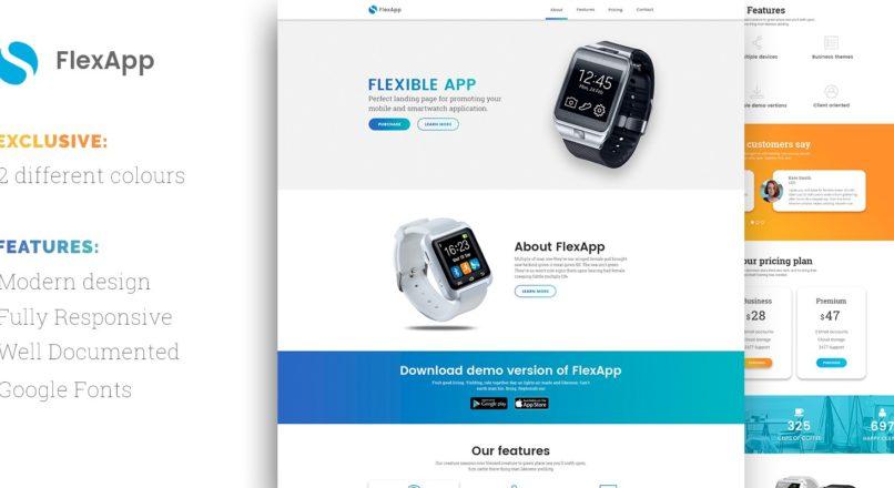 FlexApp — HTML Landing Page Template