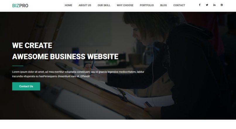 Bizpro — OnePage HTML Business Template