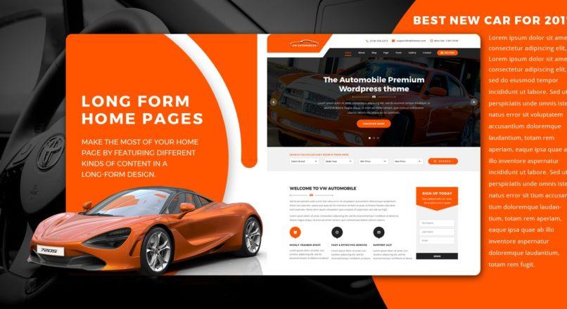 VW Automobile Pro — WordPress Theme