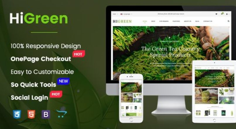 HiGreen — Multipurpose OpenCart Theme