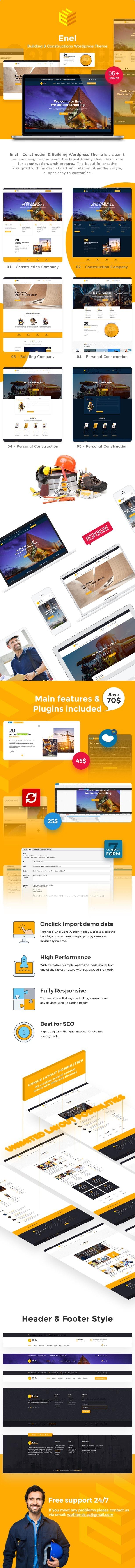 Enel - Construction & Building WordPress Theme