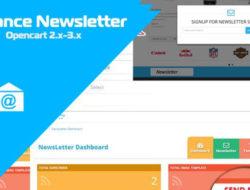 Advance Newsletter — Opencart 2.x-3.x