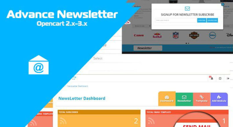 Advance Newsletter — Opencart 2.x-3.x