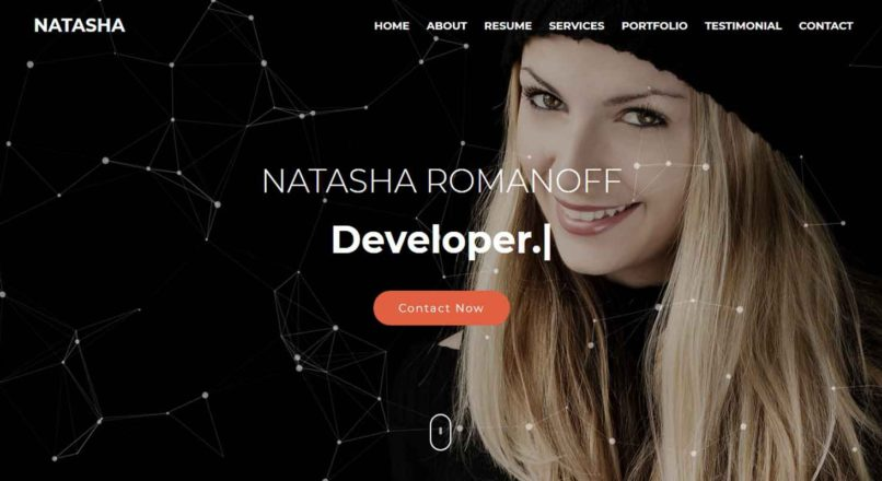 Natasha — One Page Portfolio HTML Template