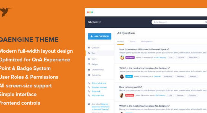 QAEngine — Question and Answer WordPress Theme RUS