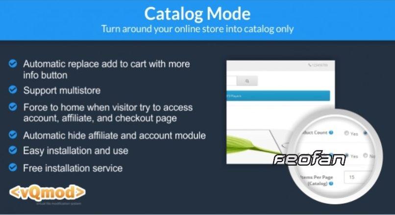 Catalog mode Opencart 2.x-3.x