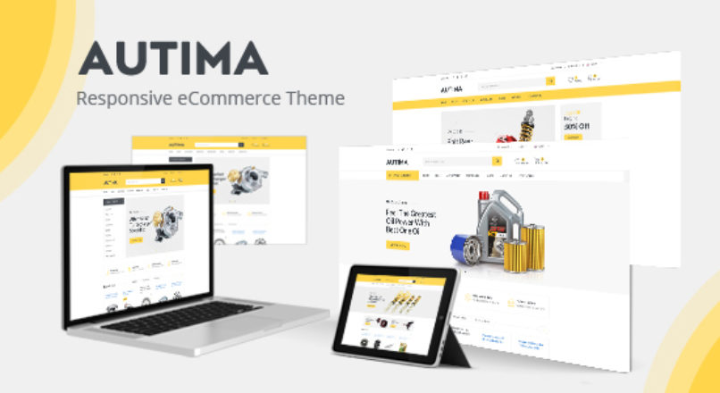 Autima — Accessories Car OpenCart Theme (Included Color Swatches)