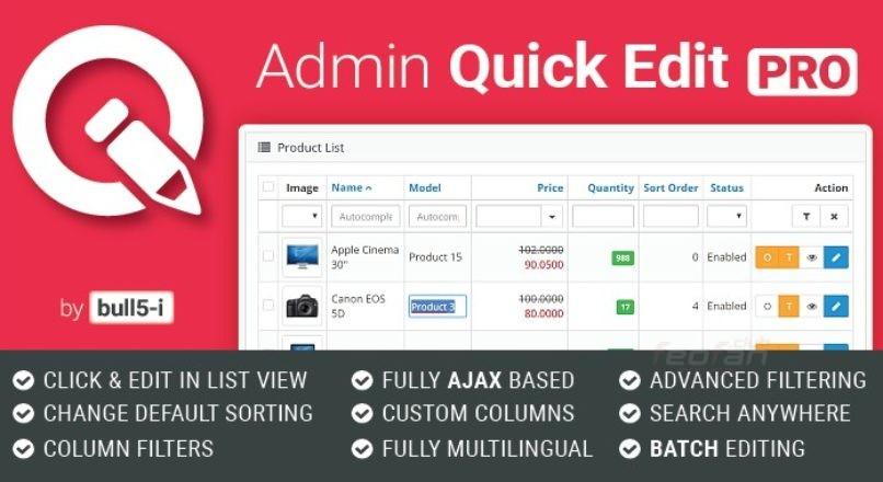 Admin Quick Edit PRO v5.7.1