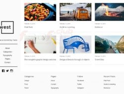 One West — WordPress Blog Theme