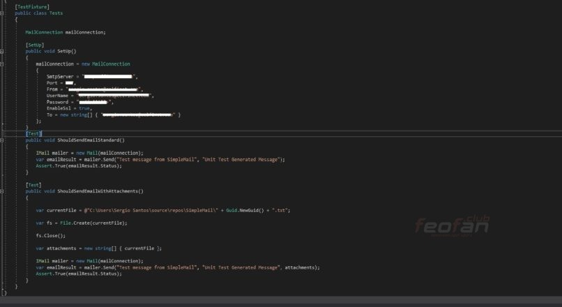 Simple Mail .NET Core