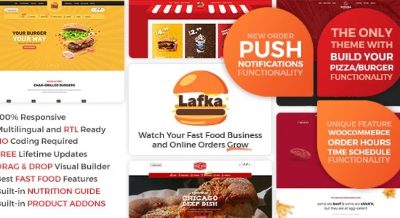 Lafka — wordpress шаблон для пиццерий, суши-баров, доставки еды