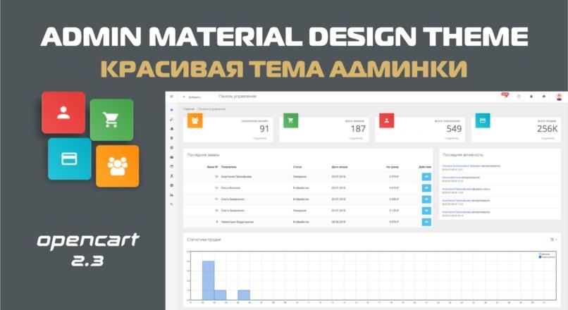 Admin Material Design Theme — Тема админки