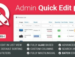 Admin Quick Edit PRO 6.0.0 Opencart 3