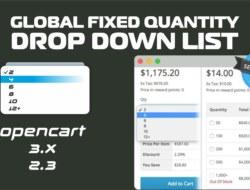 Global Fixed Quantity Drop Down List v. 2.0.0
