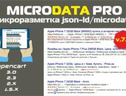 MicrodataPro (микроразметка json-ld/microdata) 7.0 nulled