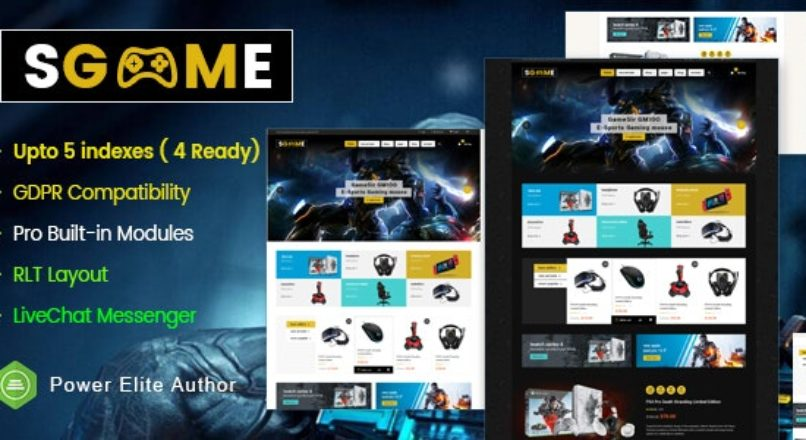 SGame — Responsive Accessories Store OpenCart Theme (Include 3 mobile layouts)