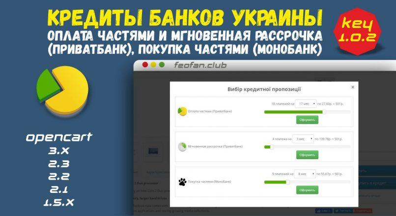 Кредиты банков Украины: оплата частями и мгновенная рассрочка Приватбанк — Монобанк