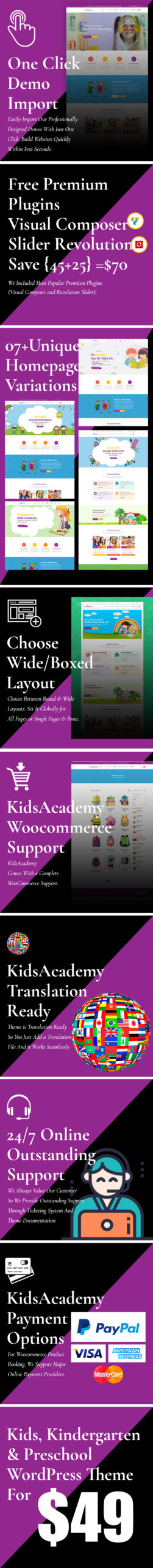 KidsAcademy - Kids, Kindergarten & Preschool WordPress Theme v.1.3.4