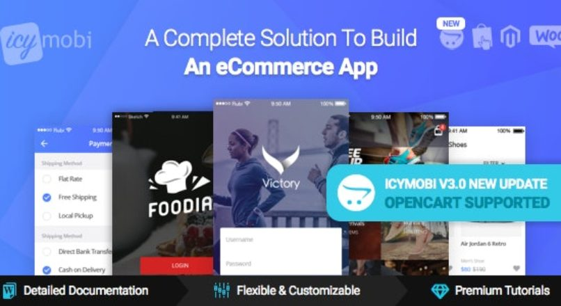 IcyMobi – All-in-one E-commerce App Solution v2.3.0