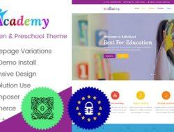 KidsAcademy — Kids, Kindergarten & Preschool WordPress Theme v.1.3.4