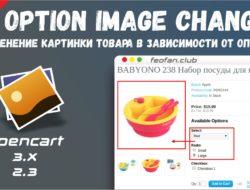 Option Image Change — Изменение картинки товара в зависимости от опции 1.1