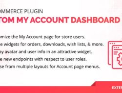 WooCommerce User Dashboard — Custom My Account Page