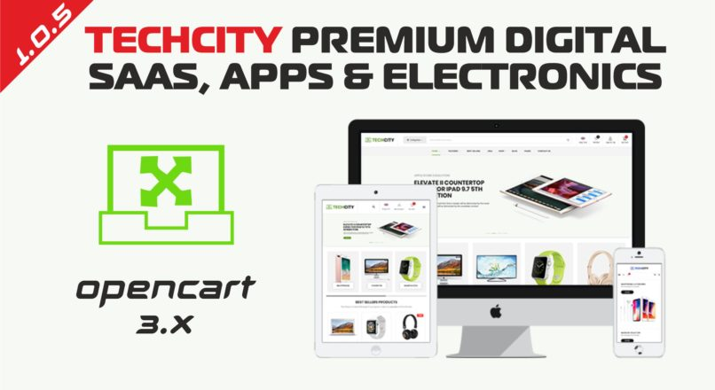 TechCity Premium Digital, SaaS, Apps & Electronics Opencart 3 Theme