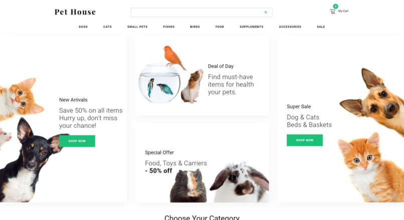 Pet House — Pet Shop eCommerce Modern OpenCart Template