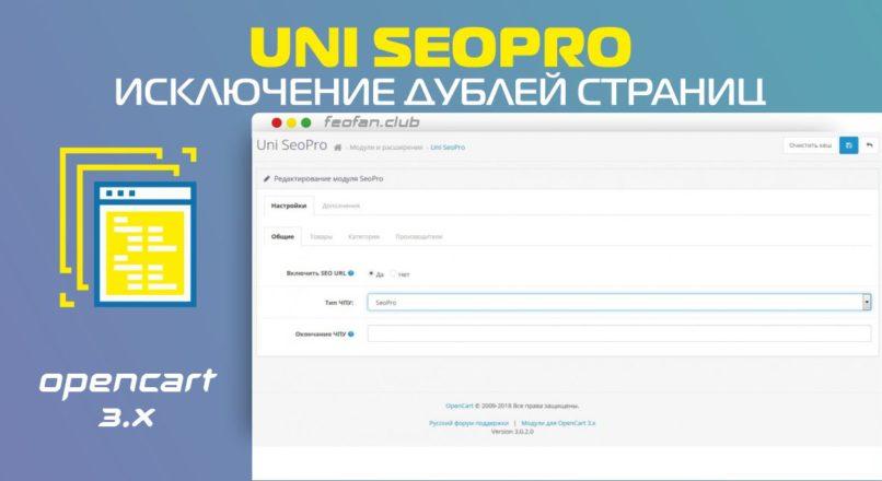Uni SeoPro для исключения дублей страниц