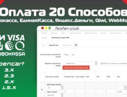 Оплата 20 способов (Робокасса, ЕдинаяКасса, Яндекс.Деньги, Qiwi, WebMoney) VIP