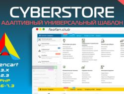 CyberStore адаптивный универсальный шаблон v1.3 VIP