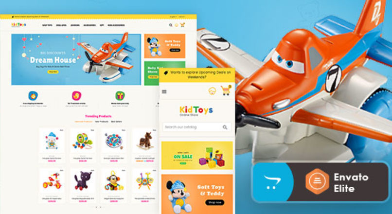 Kid Toys Opencart 3 Multi-Purpose Responsive Theme