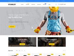 Stanley OpenCart шаблон для строительного магазина инструментов №85107