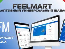 FeelMart адаптивный универсальный шаблон v1.6.4 VIP