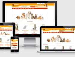 Многоцветный шаблон зоомагазина PetShop v1.3
