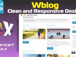WBlog Clean and Responsive Design