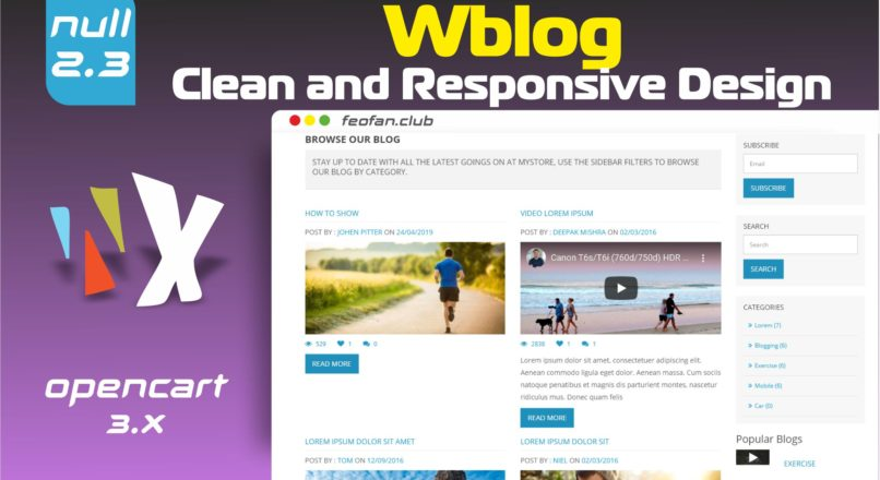 WBlog Clean and Responsive Design