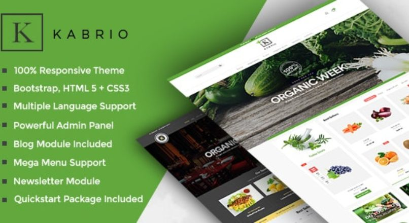 Kabrio Food Store Responsive OpenCart Theme