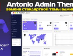 Antonio Admin Theme — Замена стандартной темы админки v.2.0