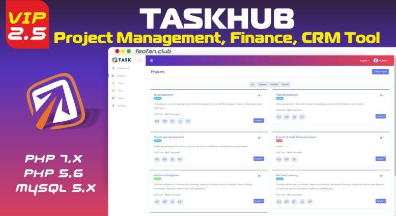 Taskhub Project Management, Finance, CRM Tool 2.5 VIP
