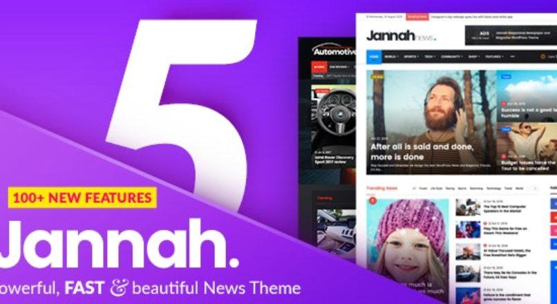 Jannah 5.4.6 NULLED WordPress News Magazine Blog & BuddyPress Theme