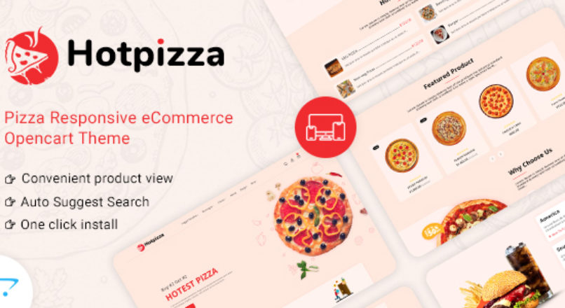 HotPizza Pizza & Food Delivery OpenCart Store