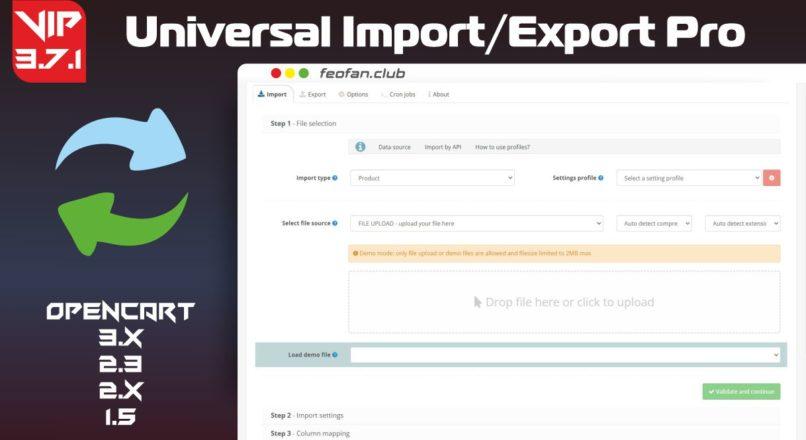 Universal Import/Export Pro v3.7.1 VIP
